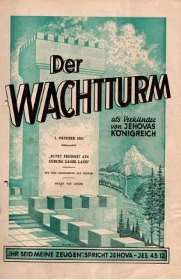 der wachtturm 01.10.1951 rufet freiheit aus durchs ganze land