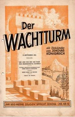 der wachtturm 15.09.1951 die 1290 und die 1335 tage der prophezeiung daniels
