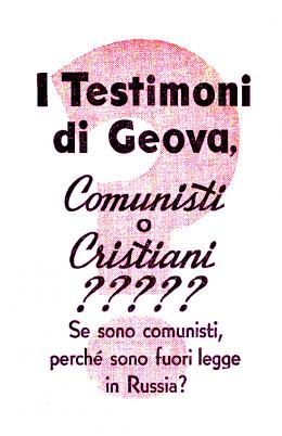I Testimoni di Geova, comunisti o cristiani? 1951