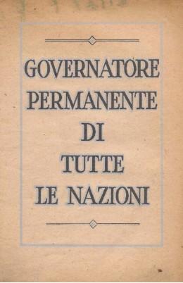 governatore permanente di tutte le nazioni