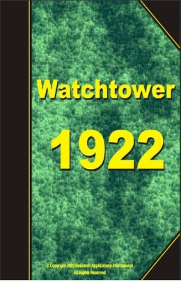 watch tower   1922, №1-24