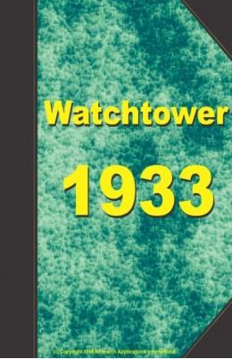 watch tower   1933, №1-24