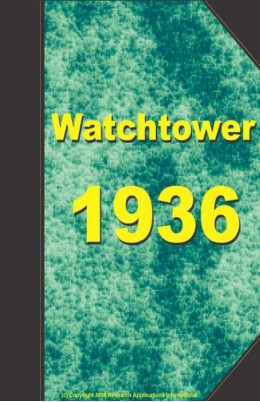watch tower   1936, №1-24